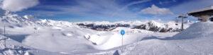 Wintersport gebied La Plagne in Frankrijk