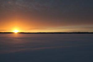 Zonsondergang Lapland