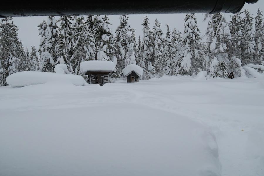 Droogtoilet in Lapland
