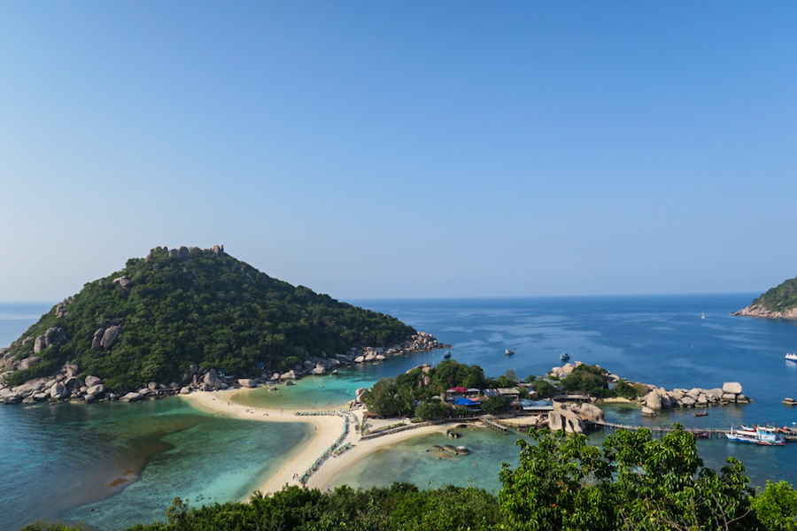 "Backpack route 2 weken Thailand "" Koh Nang Yuan"