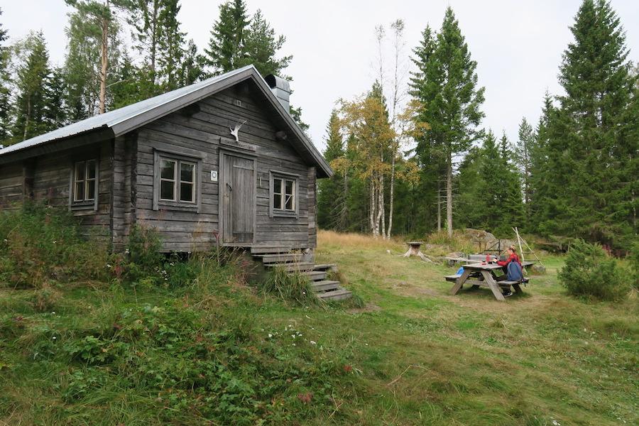 Trekkingshut Skuleskogen National Park in Hoge Kusten Zweden