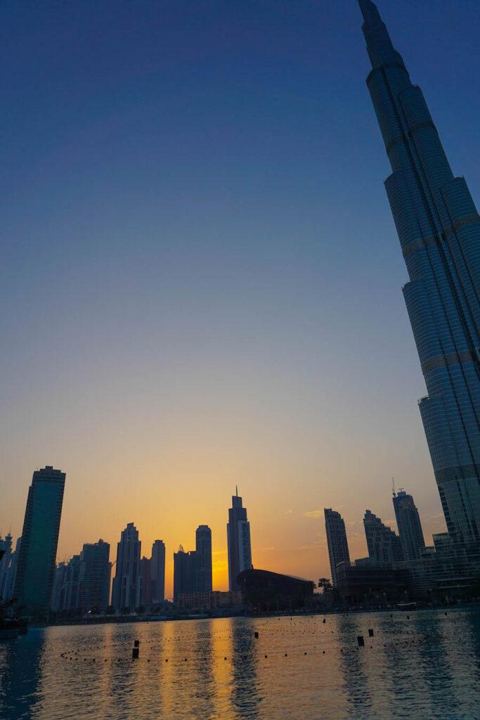 Burj Khalifa blauwe uurtje