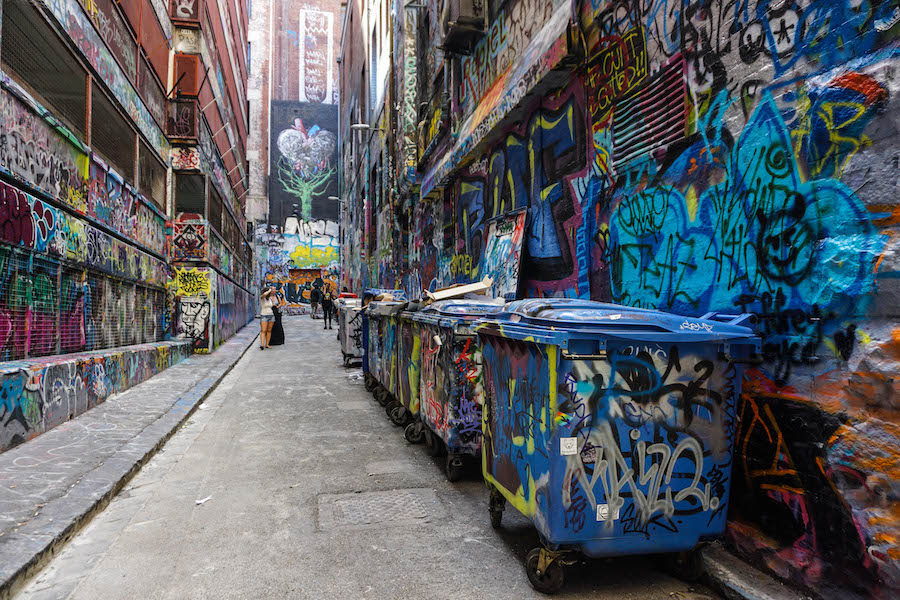 Flinder Lane Graffiti Melbourne