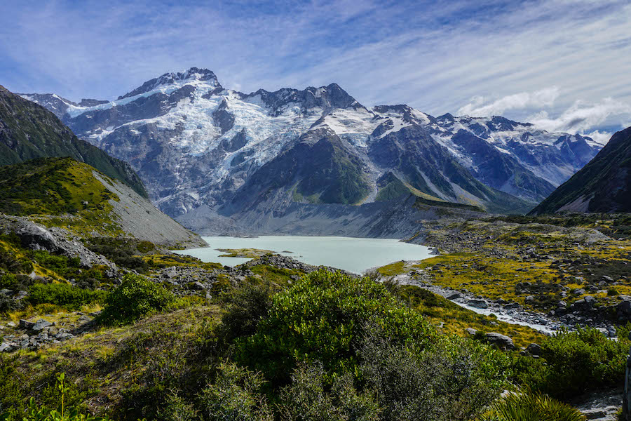 Mueller lake Mount Cook