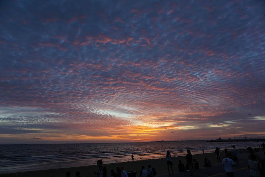 St Kilda beach zonsondergang