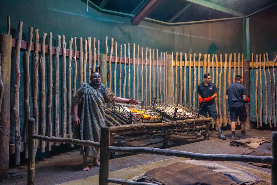 Hangi food Maori Village Rotorua