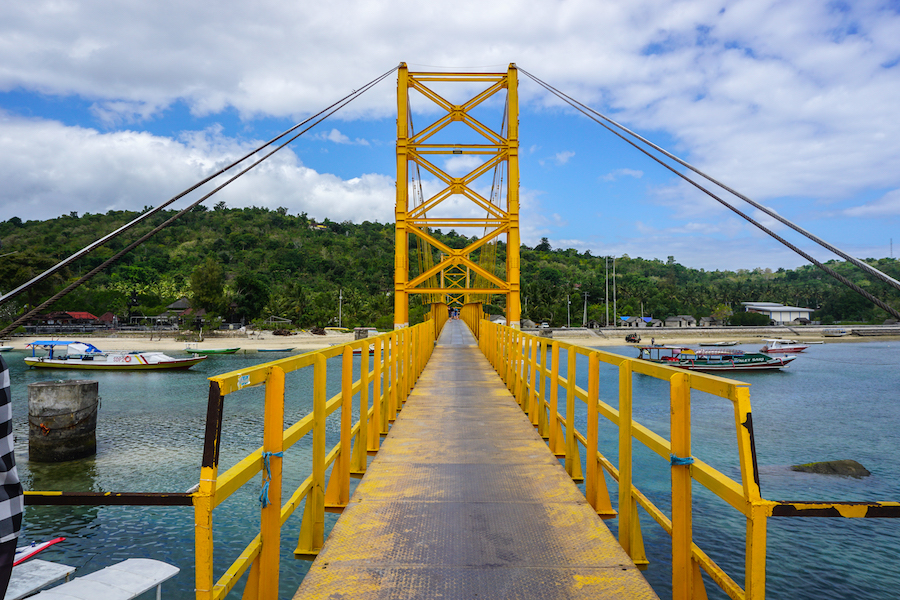 Gele brug Nusa Ceningan