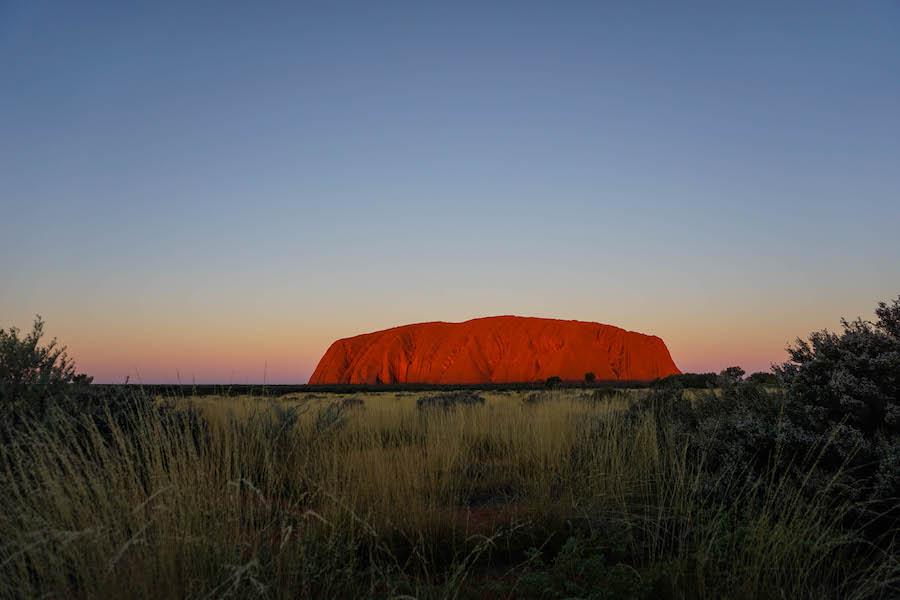 Zonsondergang Uluru