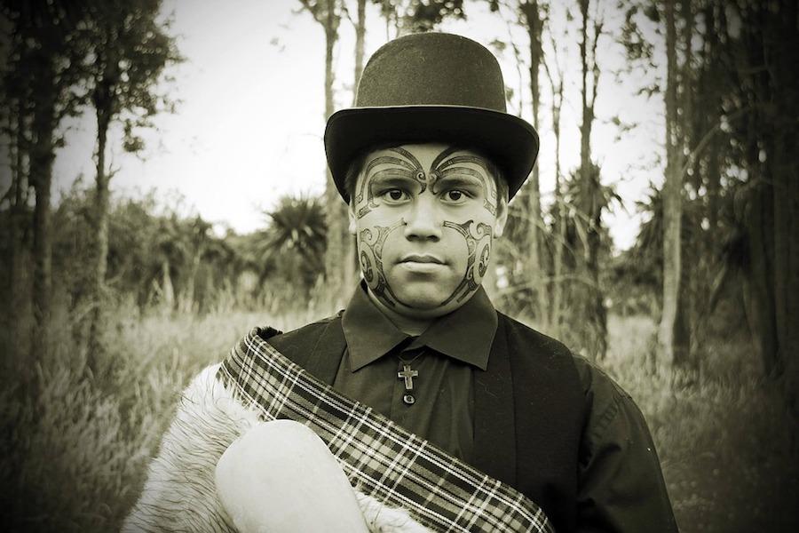 Ta Moko Maori gezicht tattoo