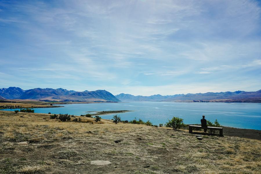 Het meer van Lake Tekapo