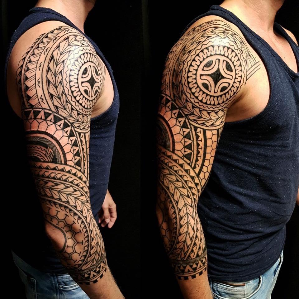 Polynesische tattoo