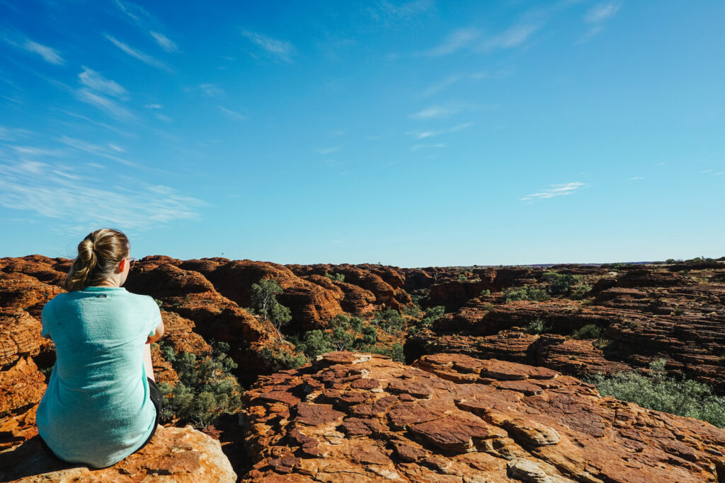Uitzicht op Garden of Eden Kings Canyon Australië