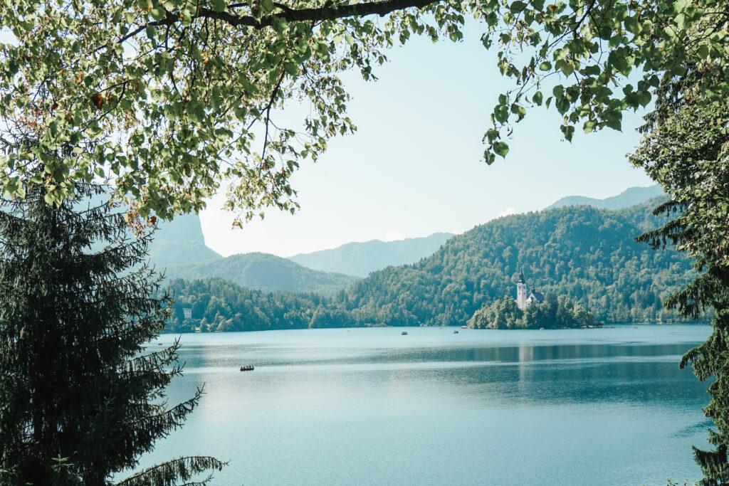 Meer Bled in Slovenië