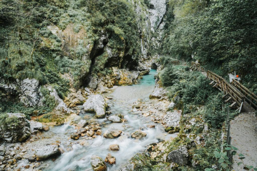 Tolmin gorge Slovenië