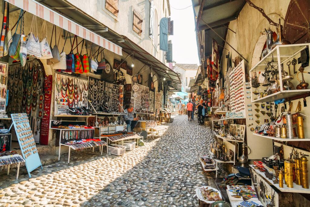 Winkelstraat Mostar