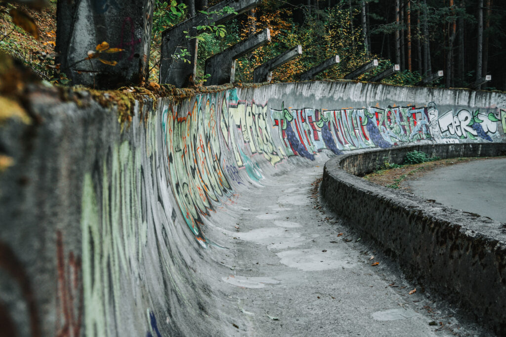 Oude bobsleebaan Sarajevo