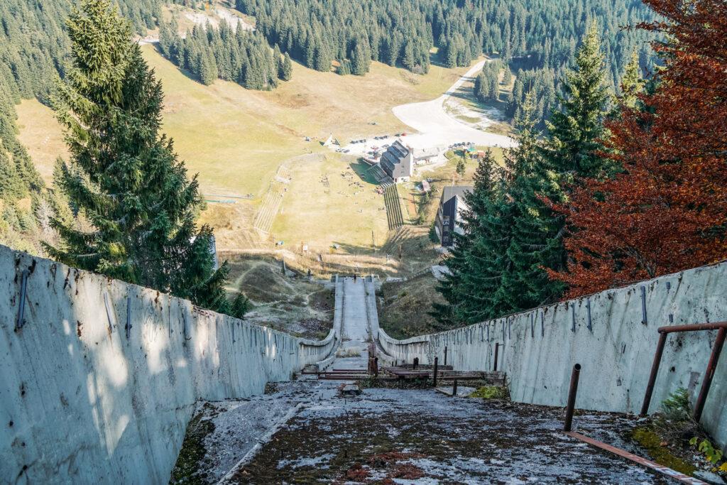 Olympische winterspelen skischans Sarajevo