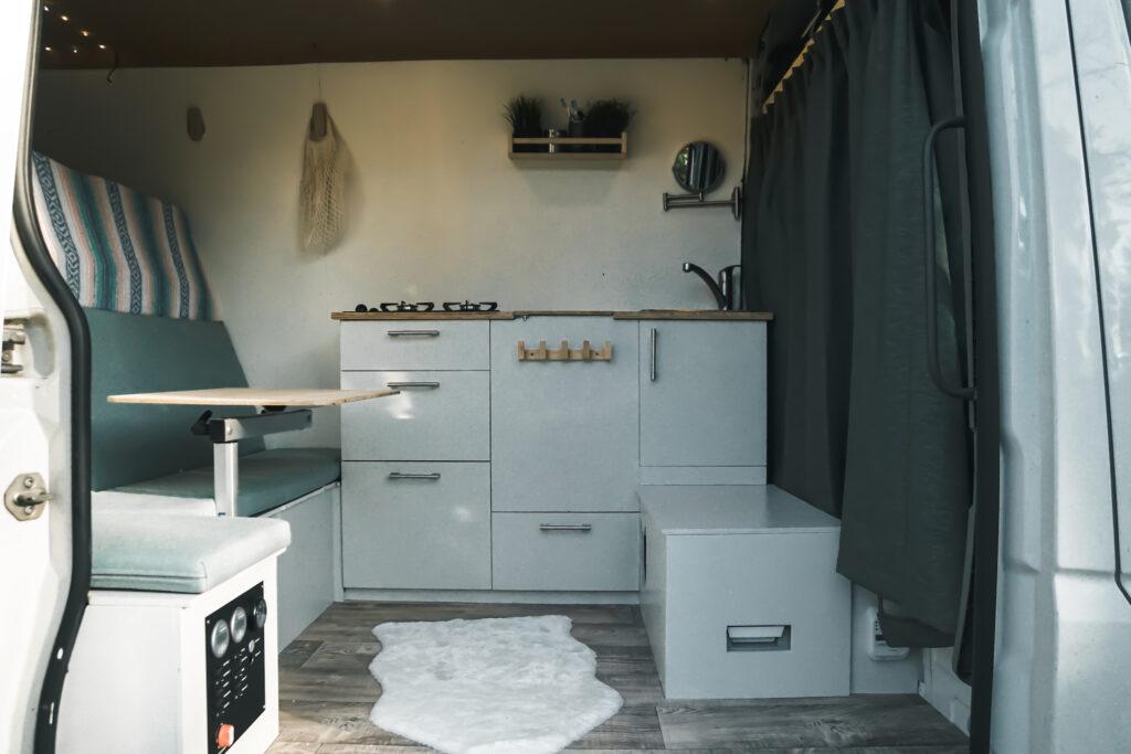 Keuken zelfbouw camper