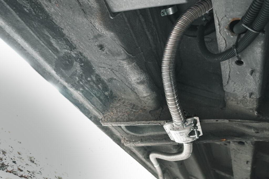 Uitlaat dieselkachel