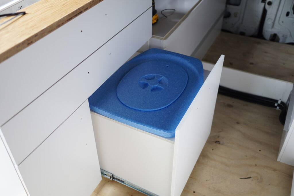 Composttoilet in de camper
