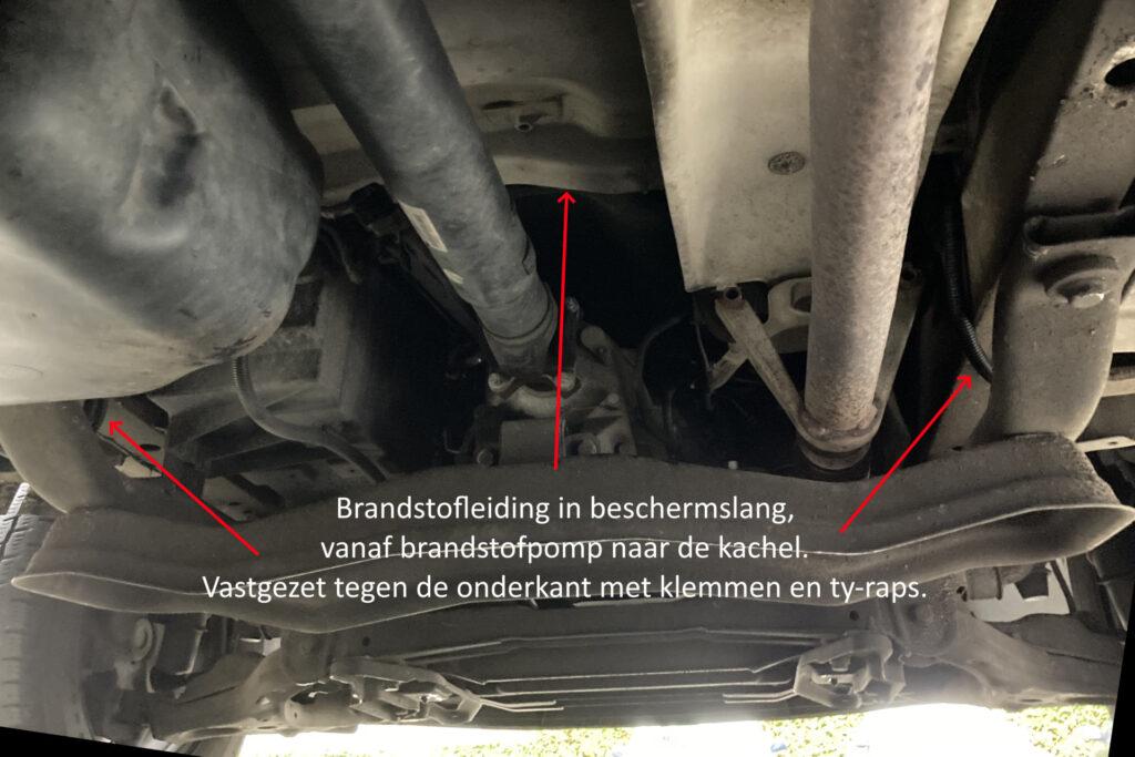 Brandstofslang route dieselkachel